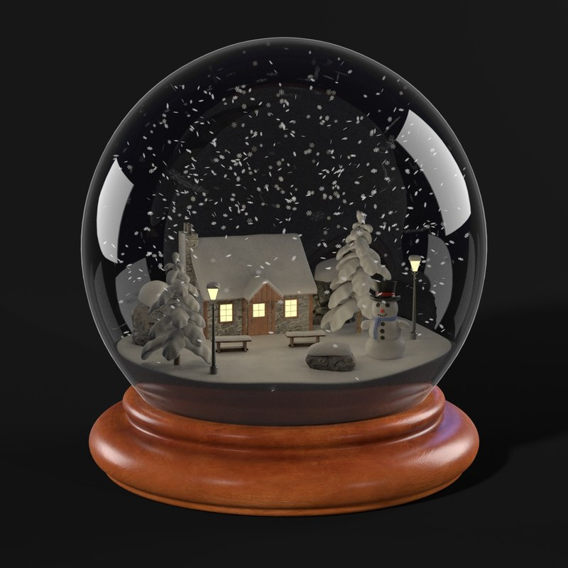 Decorate for Christmas with snow globes