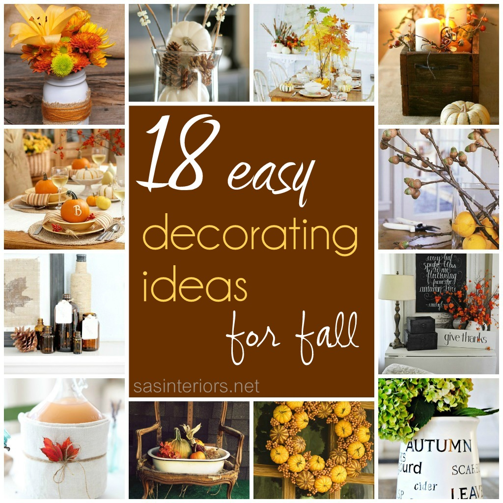autumn decorating ideas 18 easy decorating ideas for fall - jenna burger XZBWLIB