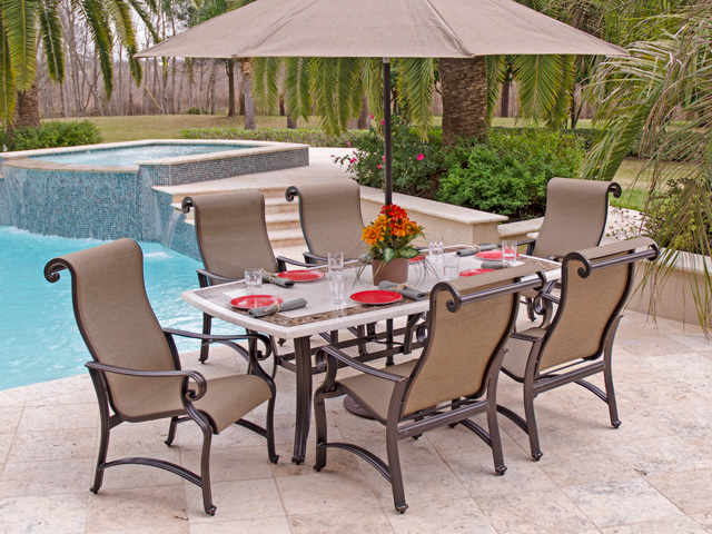 Cheap patio furniture aluminum APAVIVC