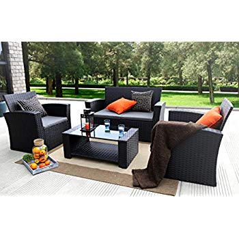 cheap rattan garden furniture sets baner garden (n87) 4 pieces outdoor furniture complete patio cushion wicker LTWSYBA