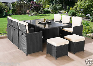 cheap rattan garden furniture sets image is loading cube-rattan-garden-furniture-set-chairs-sofa-table- RWCDCZF