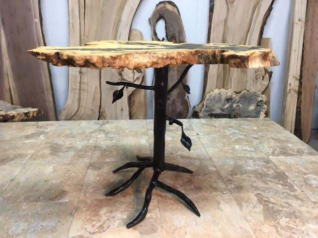 custom end table 21 inch tall custom tree hand-made accent/end table base! accent/ OZKZNVD