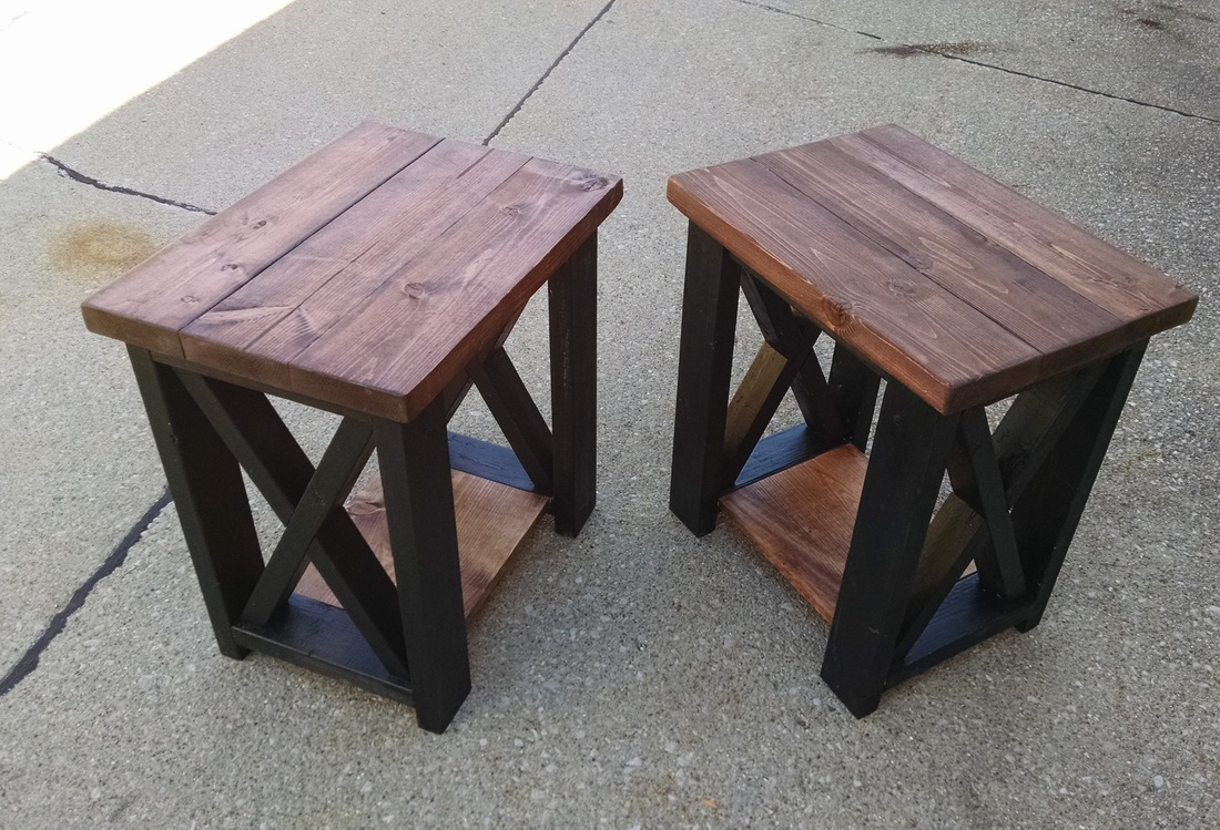 custom end table end table # 001 (sample shows special walnut stain) KDLBHTD