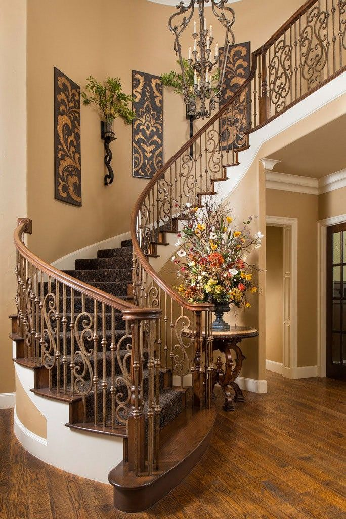 decorate stairs ideas beautiful tuscan staircase | wesley-wayne interiors ᘡղbᘠ | dream house | UMKAGJI