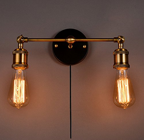 decorative wall lamps kiven occident style double head wall sconces the retro copper head shops XICCJRD