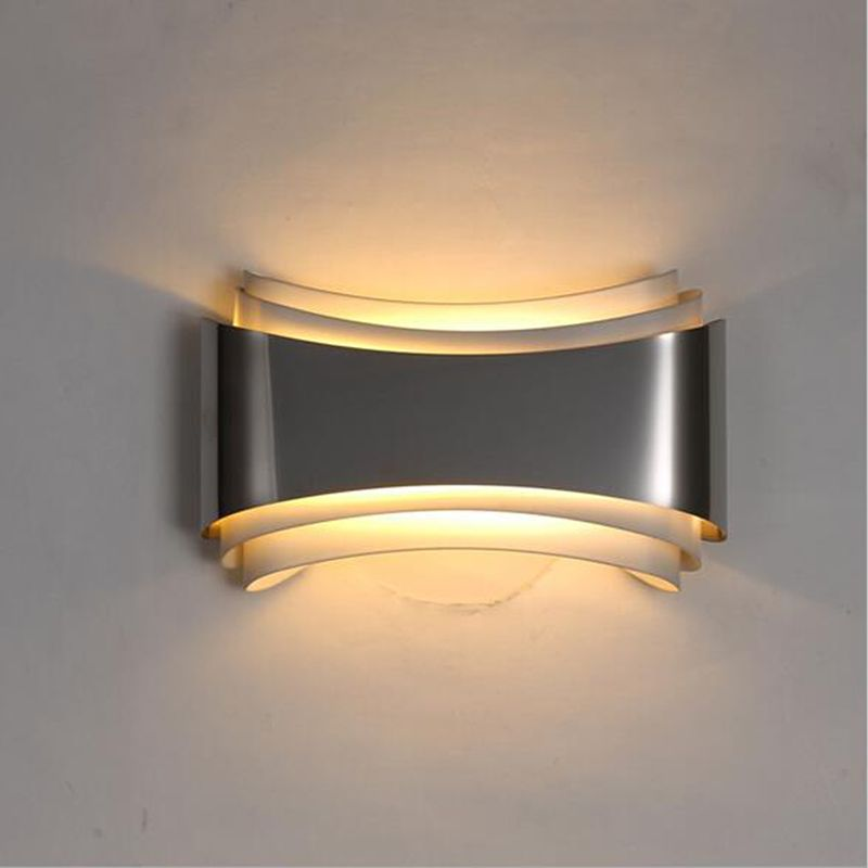 decorative wall lamps modern led wall lights for bedroom study room stainless steel+hardware 5w FDUHXHJ