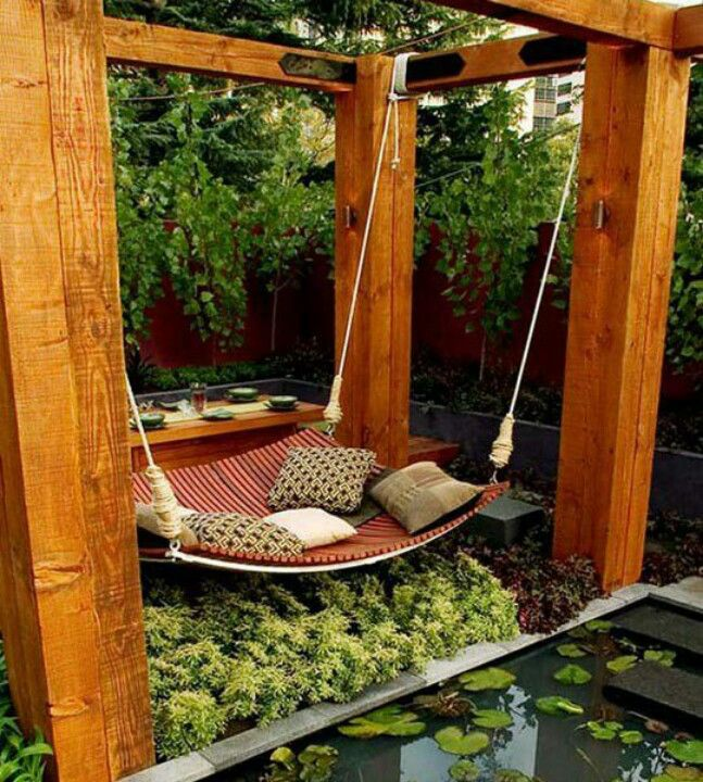 Floating Bed for garden relaxing outdoor living floating bed hanging bed relax diy inspo NNAXFMV