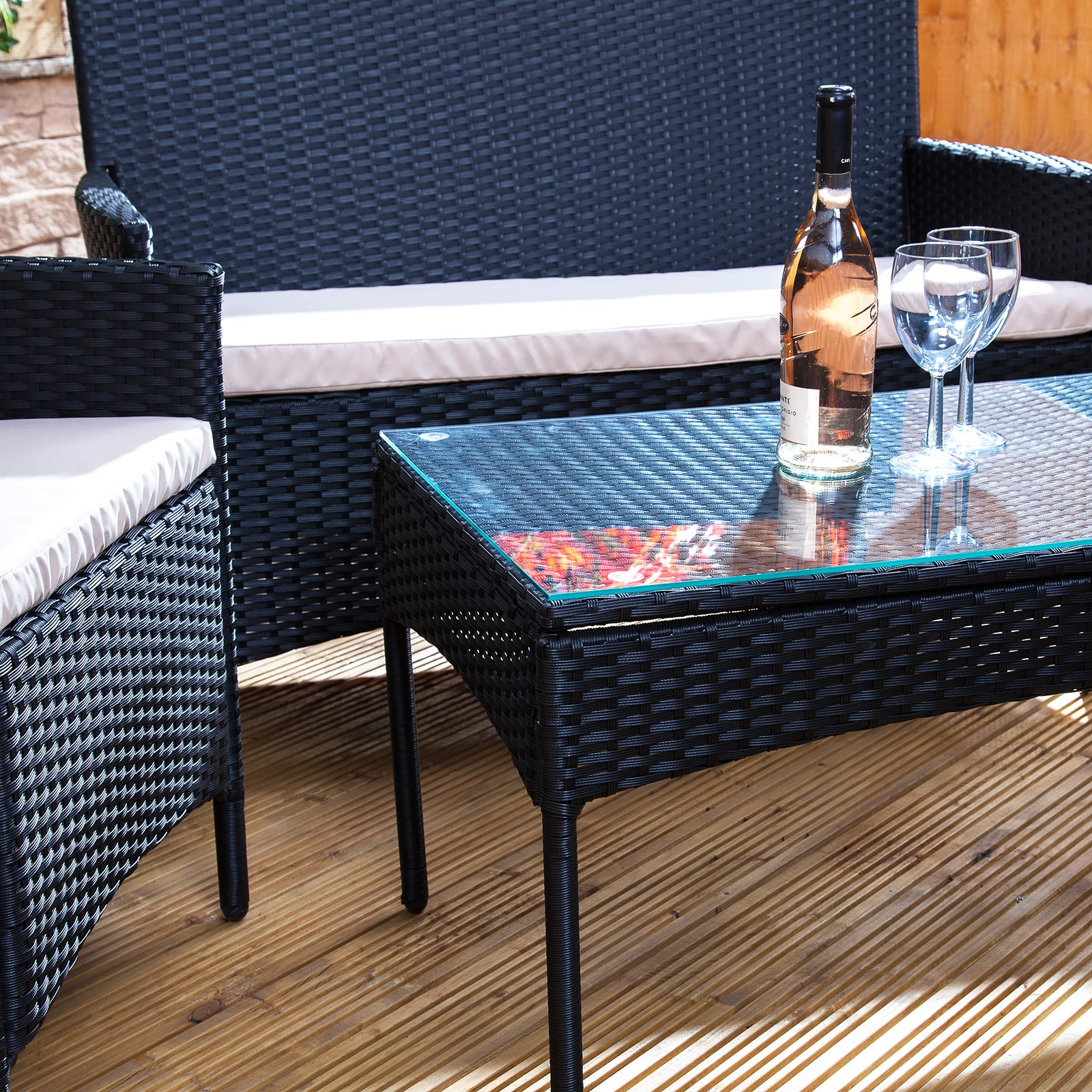 Garden furniture made of poly rattan bordeaux poly-rattan garden furniture set PQCZKUP