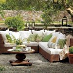 Garden furniture made of poly rattan