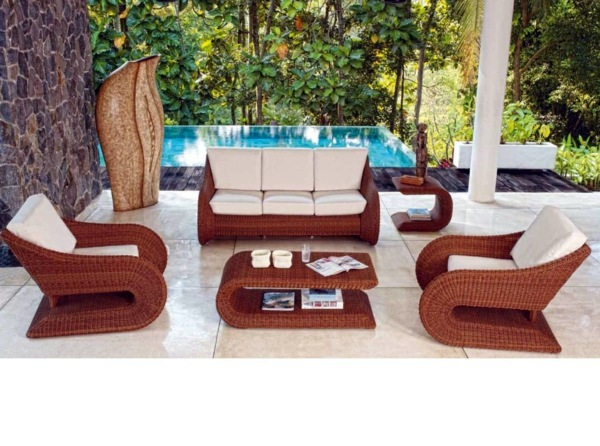 Garden furniture made of poly rattan gartenmöbel polyrattan - 45 outdoor rattan furniture - modern garden  furniture GKXQTKA