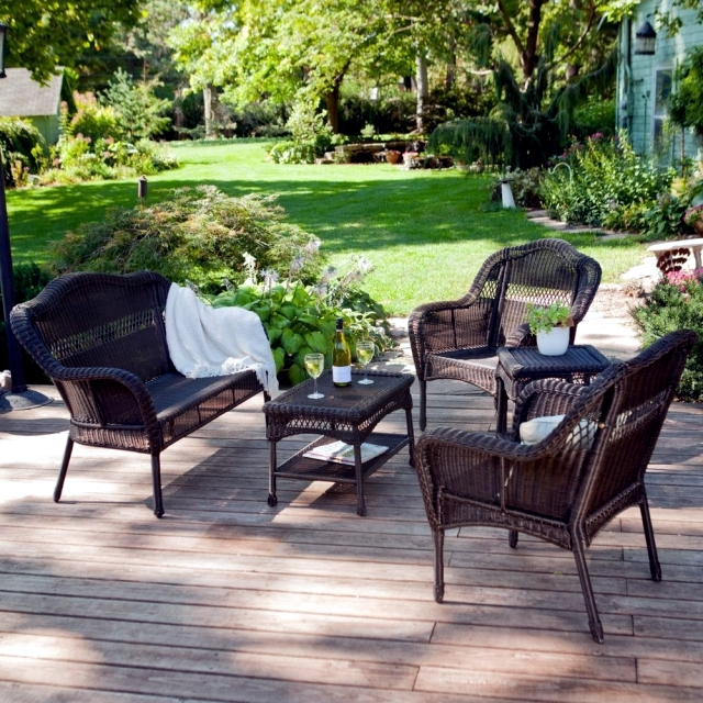 Garden furniture made of poly rattan poly rattan garden furniture - impervious to sun and rain IIHSJYA