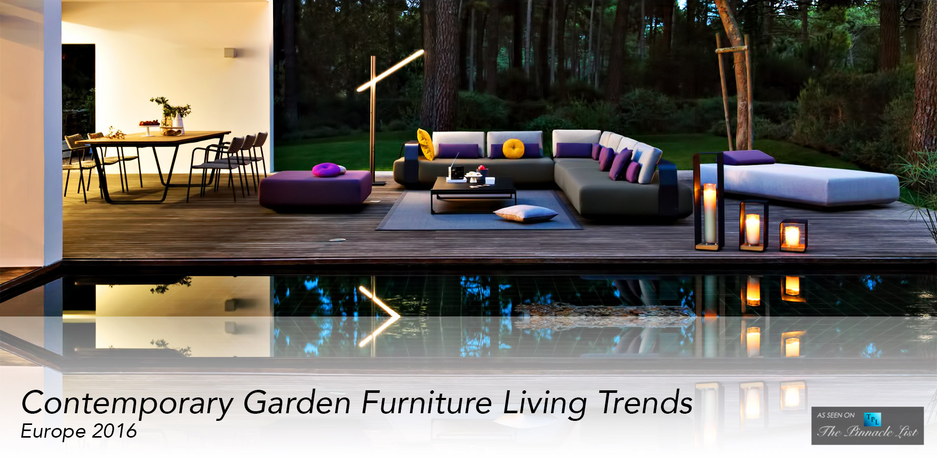 Garden Furniture Trends contemporary garden furniture living trends from europe for 2016 TRGXWFV
