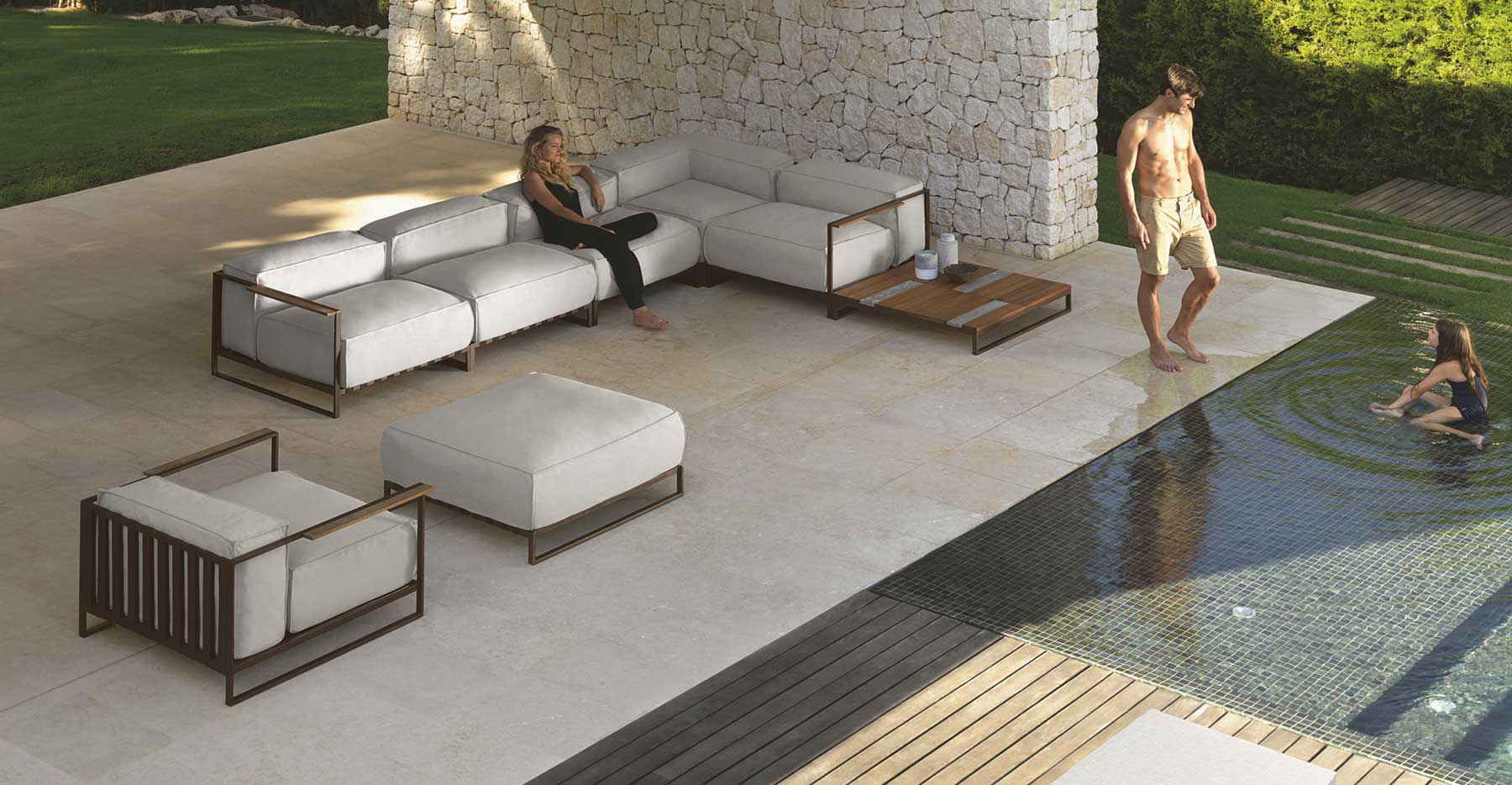 Garden Lounge Furniture santafe garden lounge set. luxury outdoor furniture. design by ramon esteve. MDFPMHZ