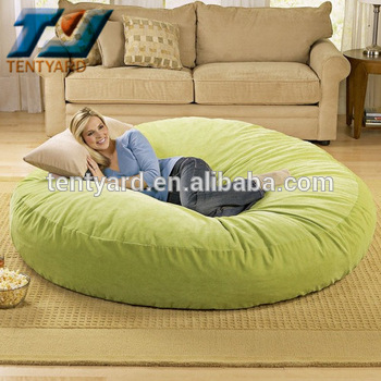 last sales green round bean bag sofa bed, round soft corner beanbag MIWFBDW