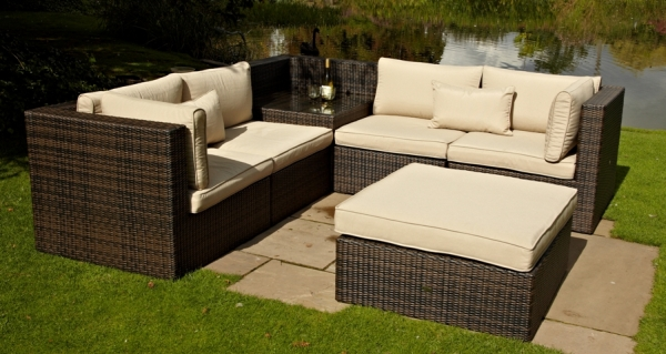 Lounge furniture for the garden madrid corner outdoor lounge set OSPDKSN
