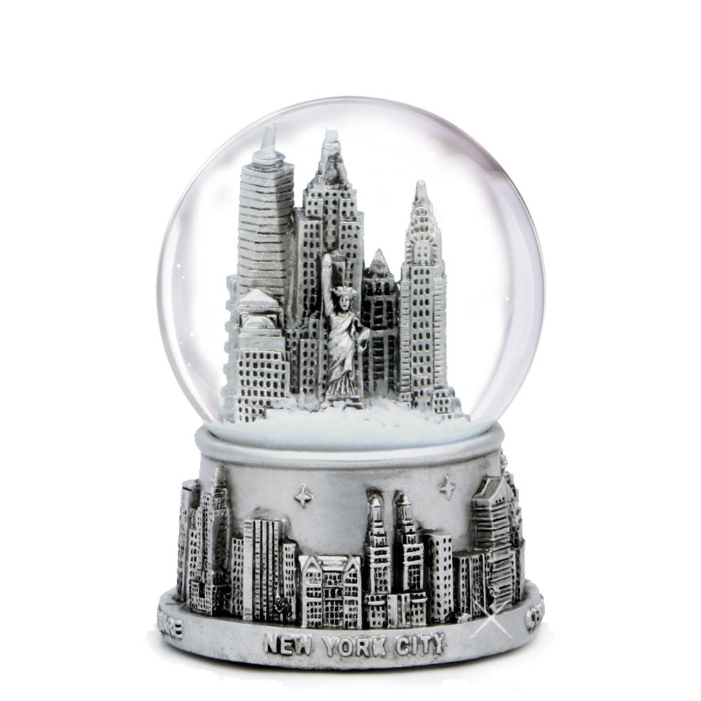 new york city snow globe 65mm skyline of nyc souvenir UMZLEVI