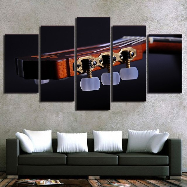 panel shelves for musical decoration painting abstract art wall modular frame picture for living room 5 panel MDJRMMN