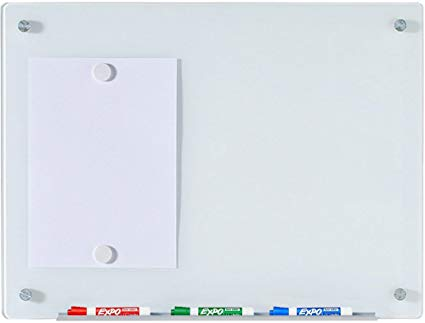 Glass Magnetic Board magnetic glass dry-erase board set - 17 3/4 x 23 5 VCDWTNE