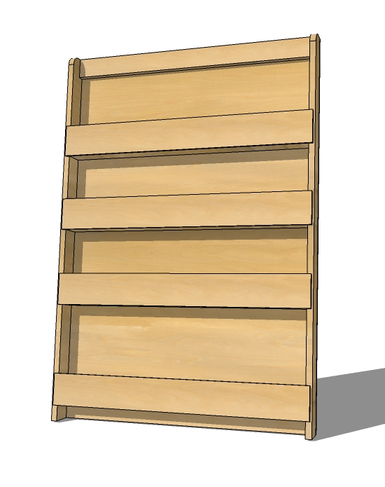 Magazine rack and bookshelf build your own forward facing bookshelf or magazine rack! these easy to  follow plans include KIRFJOL
