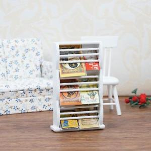 Magazine rack and bookshelf image is loading 1-12-dollhouse-miniature-wooden-bookshelf-book-magazine- WIWFONA