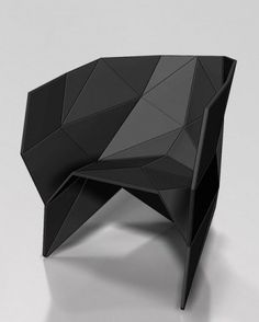 modern design chair oric - black modern chair inspired by polyhedron origami | chair . stuhl .  chaise XUJEHRW