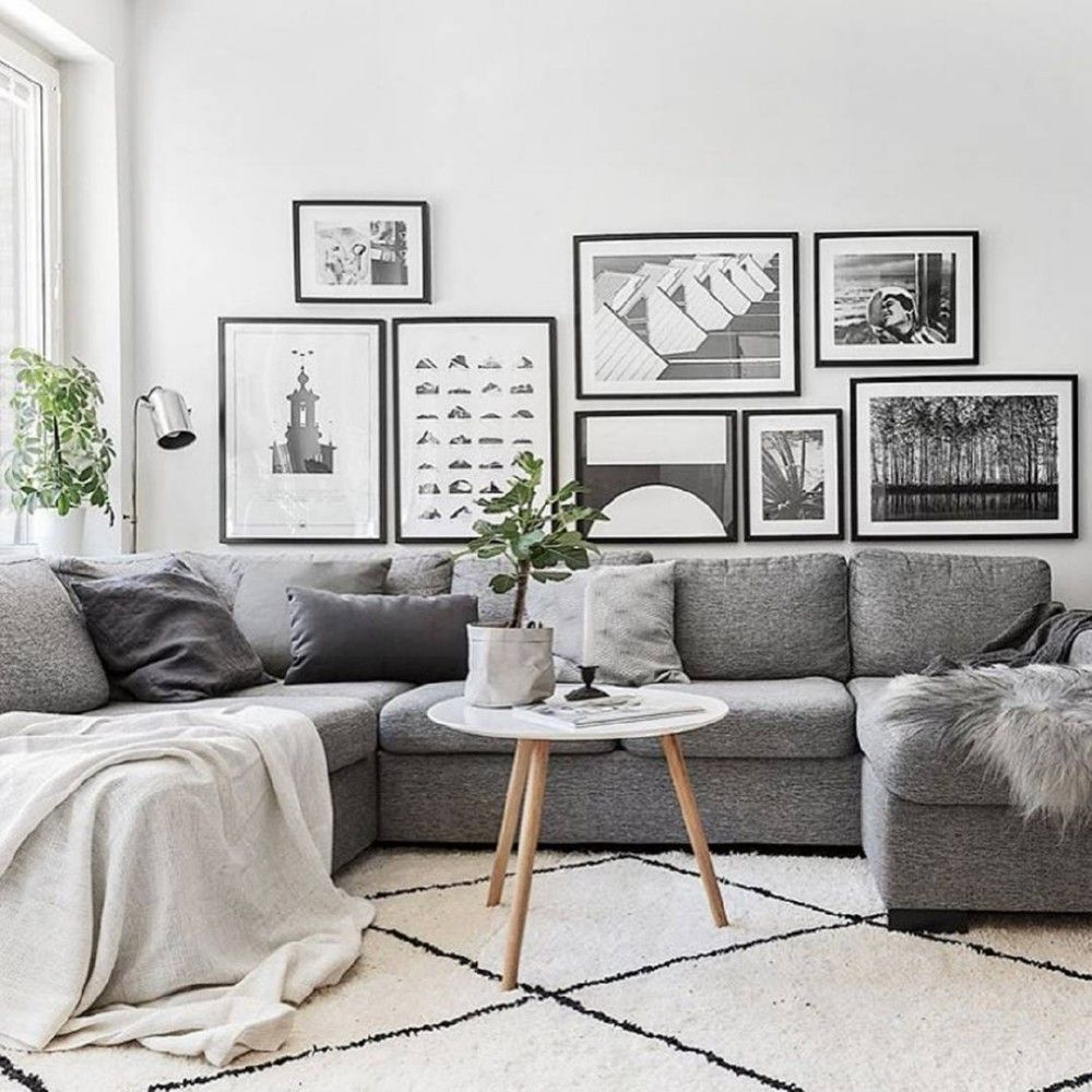 Scandinavian design living room living room decor with grey couch, living room ideas modern grey, room and  board TAMUQVQ