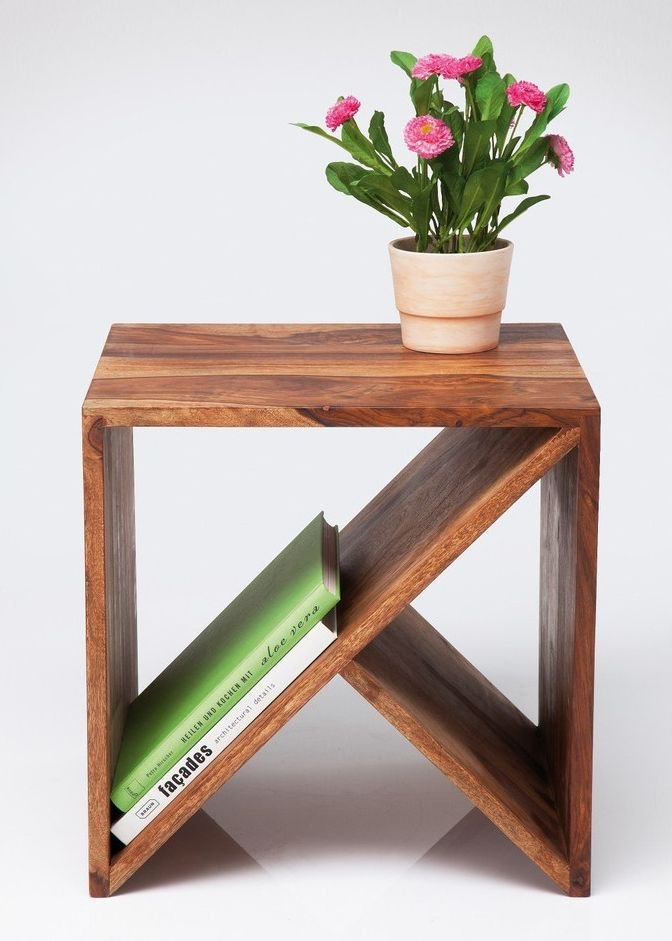 Side table with magazine rack wood side table with magazine rack DKUDTZT