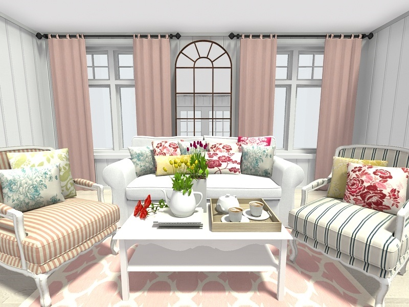 Spring decoration for the living room spring decorating ideas: living room with floral and trellis pattern home  decor XMPEFLD