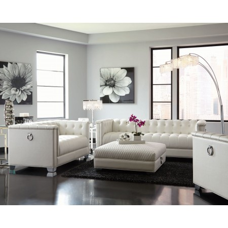white living room furniture chaviano pearl white living room set VWTYJGI
