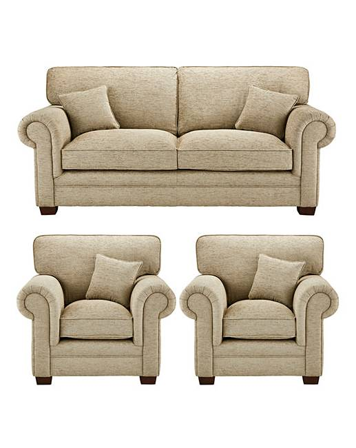Avery 3 Seater Sofa plus 2 Chairs | J D Williams