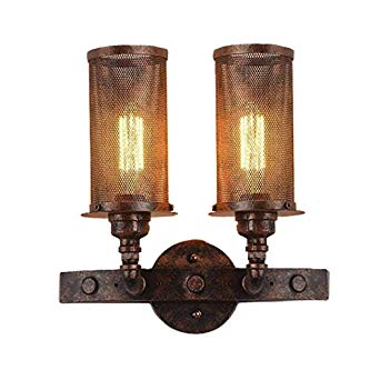 JINGUO Lighting Industrial Vintage Wall Sconce Antique Copper 2