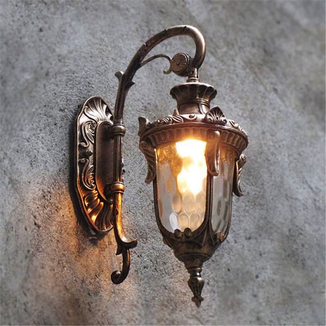 Modern Outdoor Wall Lights Garden Pathway Antique Wall Sconce