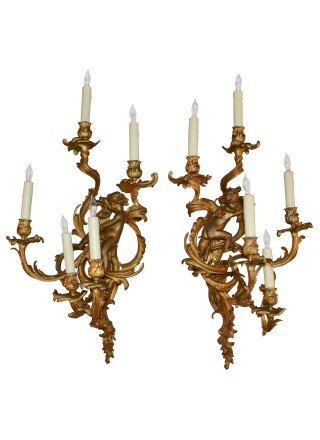 Antique Wall Sconces and Wall Lighting - Dallas - Legacy Antiques
