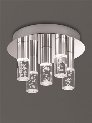 Franklite CF5764 Bubble Tube LED Bathroom Ceiling Light | CF5764