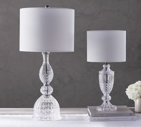 Etta Pressed Table & Bedside Lamps | Pottery Barn