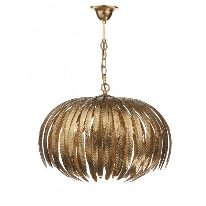 ATT0535 | Dar Atticus Pendant | Gold 5 Light Ceiling Light