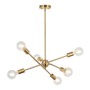 Amazon.com: BONLICHT Modern Sputnik Chandelier Lighting 6 Lights