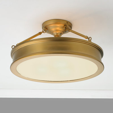 Traditional Urban Semi Flush Ceiling Light - Shades of Light