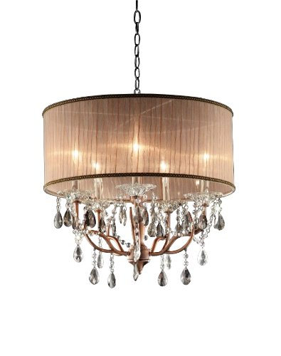 OK-5126h 25-Inch Rosie Crystal Ceiling Lamp - Close To Ceiling Light