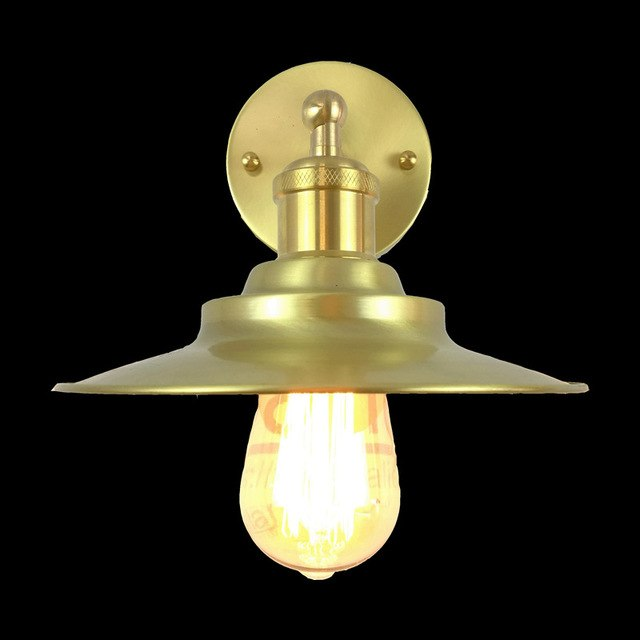 200mm diameter brass wall light edison vintage copper material