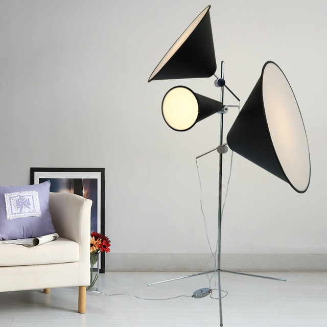 Free Shipping Led Floor Lamp Designer Floor Lighting Aluminium Metal