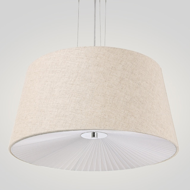 fabric cloth cover pendant lights rural modern suspended hanging