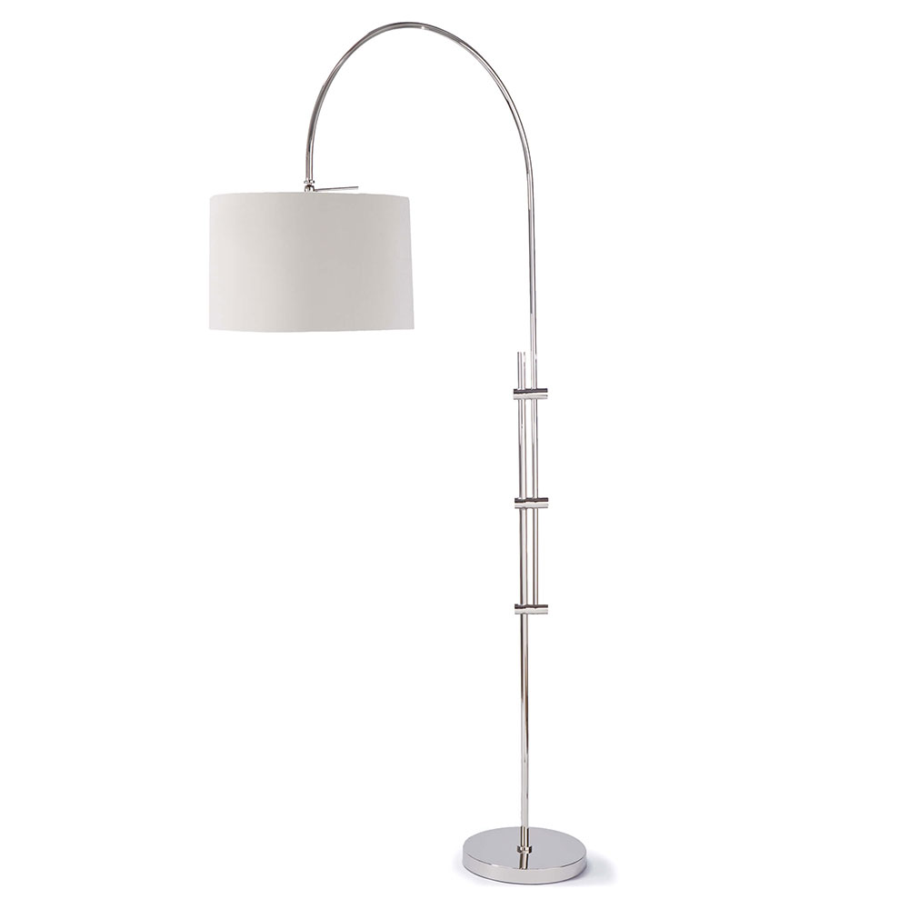 Regina Andrew Lighting Arc Floor Lamp With Fabric Shade - Polished