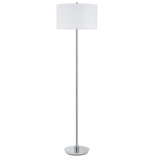 Shop 150W 3 way Halle metal floor lamp with hardback fabric shade