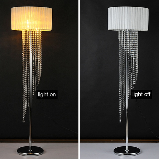 With fabric shade floor light LED bulb optional European foyer glass