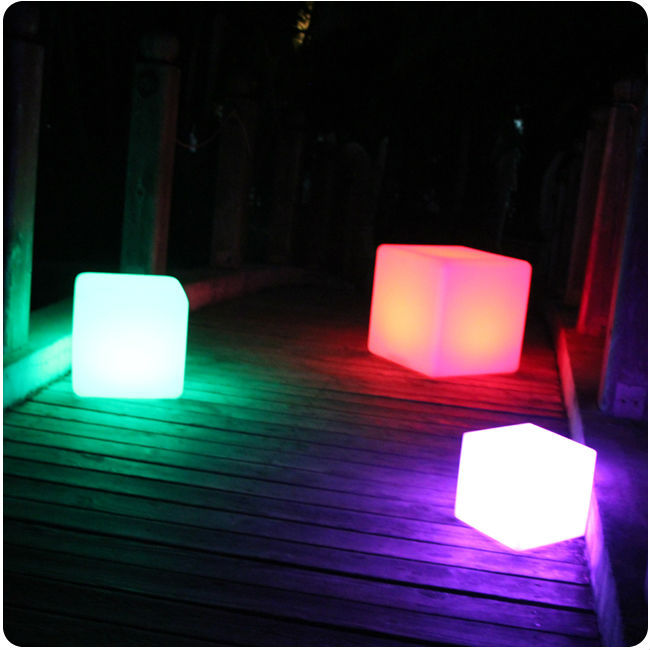 25cm Party/Event Illuminated Cube Chair, Led Light up Outdoor