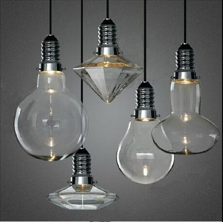 LED 3W Modern Creative Glass Pendant Lights Crystal Pendant Lamp For