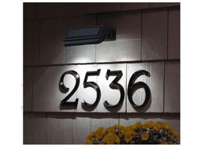 Solar light on house numbers great idea, would make it so much