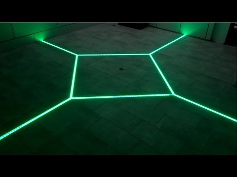 how to LED floor tiling system DIY make your floor interactive