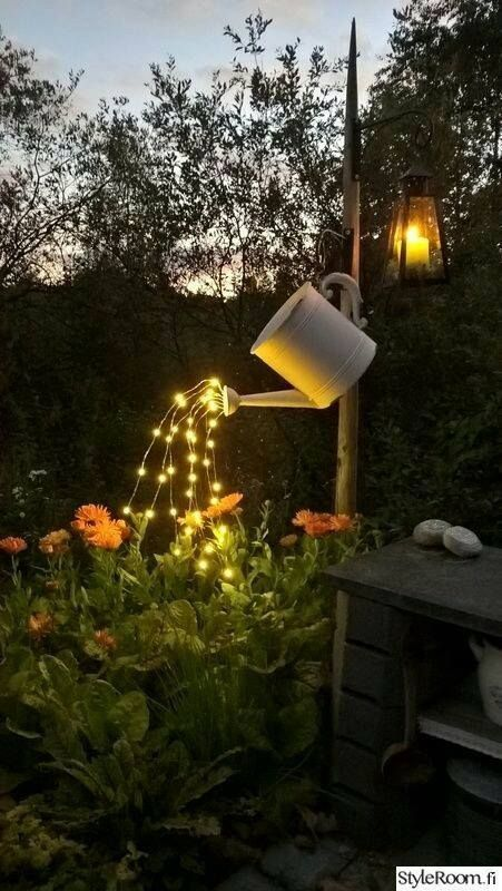 Outdoor Lighting This is such a cute idea! | Clever , Helpful etc
